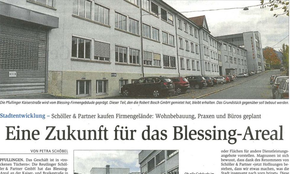 Presse – Projektentwicklung Blessing Areal