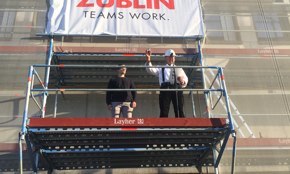 Topping-out Ceremony Stuttgarter Tor